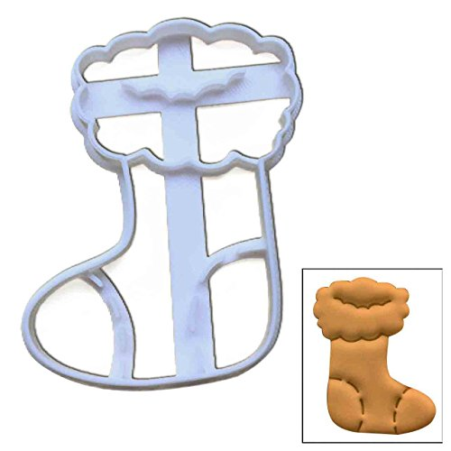 Christmas Stocking cookie cutter, 1 pc, Ideal for Christmas party (Chimney Santa Cake Down Christmas)