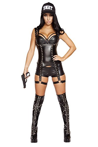 Roma 3pc Seductive SWAT Agent Costume with Complimentary Shorts by Rave Outfits