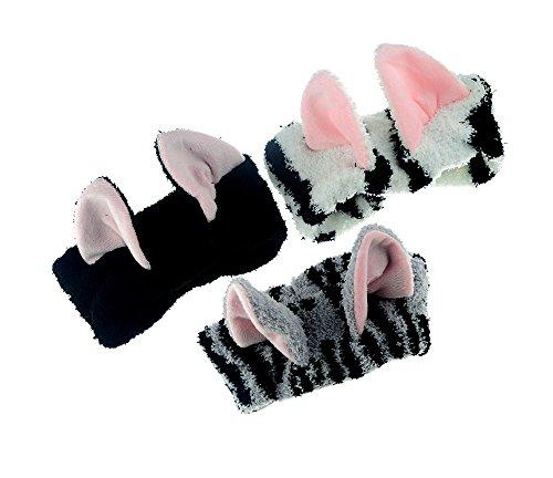 TOKYO-T Cat Ears Headband Fabric for Women 3