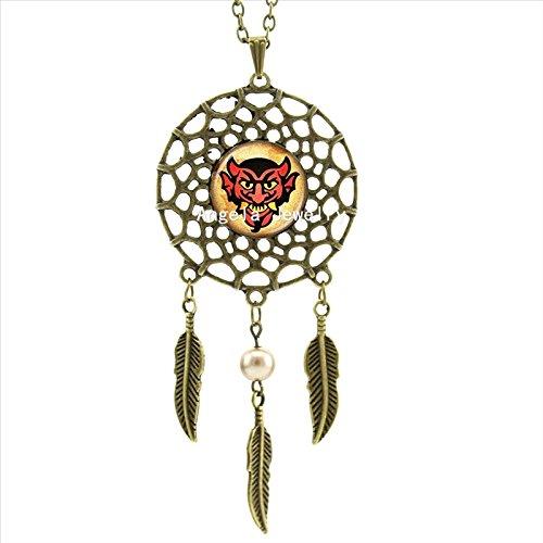 Pretty Lee Amazing Bioshock Devil'S Kiss Necklace Devil'S Kiss Jewelry Dream Catcher Feather Necklace Art Photo Glass Cabochon Necklace ()
