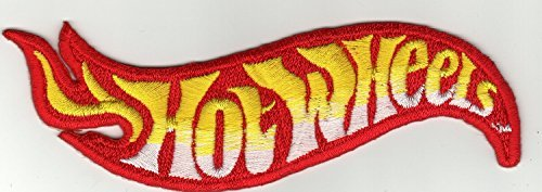 (Hot Wheels Logo Iron on Patch Embroidered Iron on Hat Jacket Hoodie Backpack Ideal for Gift /11cm(w) X)