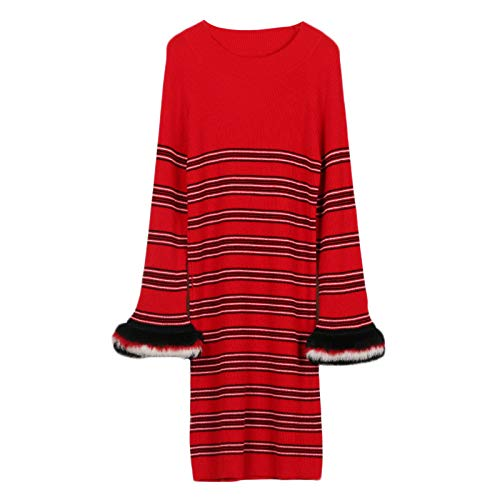 Red Oversize Gonna Con Ampia E Girocollo Top PY6wqFx