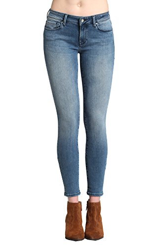 Mavi Jeans Women's Adriana Mid Rise Super Skinny, Light Foggy Blue Tribeca, 26/32