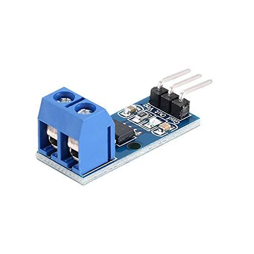 Module de capteur de courant de hall Mode ACS712 5A pour la broche 5V, indicateur de circuit imprimé électronique, modèle à effet Hall bricolage pour Arduino - Bleu