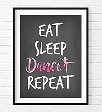 gift dance poster picture home decor Inspiring quote print wall art