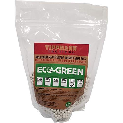 (Tippmann ECO-Green Precision Match Grade 6mm Airsoft BB's White (.32g / 3125 BB's))