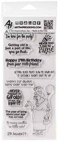 Art Impressions Laugh Lines Stamp-never Too Old