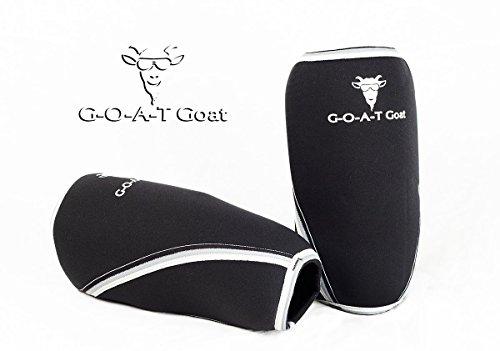 前方へ鼻対人膝スリーブfor Squatting &けが防止by the Goat Goat。Hit Your Max Squat Today 。