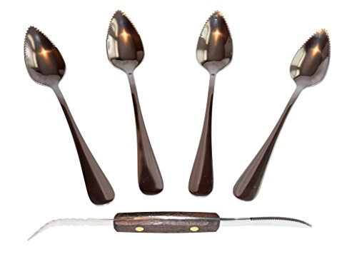 grapefruit spoons and knife - 3