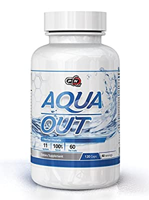 Pure Nutrition USA AQUA OUT Best All Natural Herbal Diuretic Weight Loss Dietary Sports Nutrition Supplement Lose Excessive Water in The Body 120 Caps