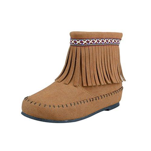 The Doll Maker Fringe Ankle Boot - FBA1631705B-2