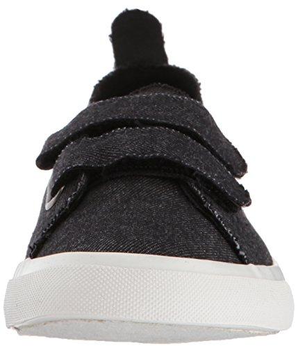 Rocket Dog Womens Calani Washed Denim Cotton Sneaker Black Pbh8Xv4n