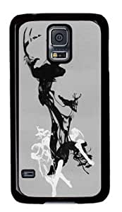 Cute Picture Illustration Art Painting - Last time I was a Deer Hard Back Case for Samsung Galaxy S5 I9006 -51440