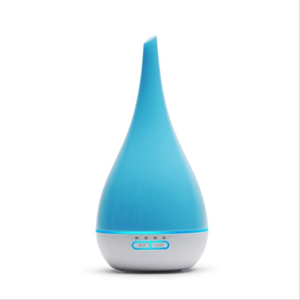 GJJDF 400ml Humidificador de Aire Aromaterapia Aceite Esencial Máquina de aromaterapia Máquina de pulverización ultrasónica 7 Color Led Florero Forma Reino Unido Azul
