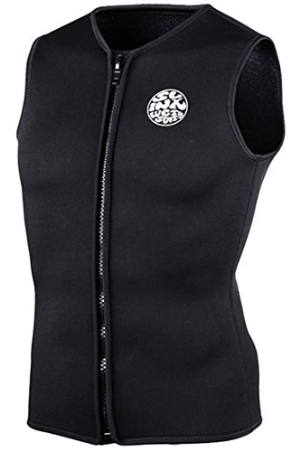 Micosuza Unisex Wetsuit Vest Top Premium Neoprene 3mm Sleeveless Front Zipper for Diving Surfing Swimming Snorkeling