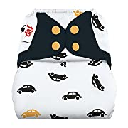 Flip Hybrid Reusable Cloth Diaper Cover with Adjustable Snaps and Stretchy Tabs - Fits Babies from 8 to 35+ Pounds (Faster)