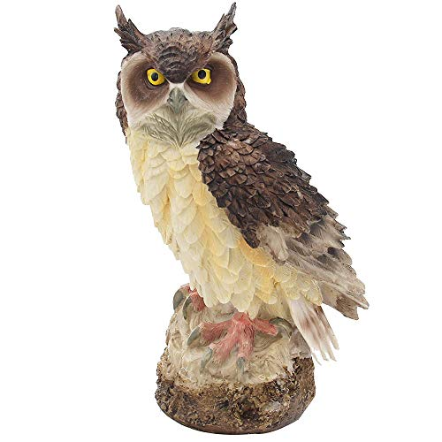 URBANSEASONS Owl Decoration Statues, Garden Peeker Yard Art, Owl Knick-Knack for Interior Home Decor,7