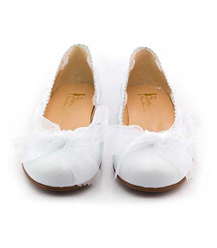 Boni Melissa �?Mädchenschuhe aus weißem Patentleder Weiß - weiß