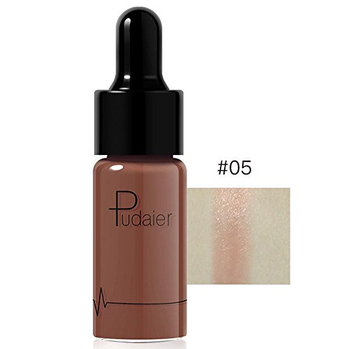 Doinshop Highlighter Liquid Make Up 12 Colors Concealer Shimmer Face Glow Cream (E)