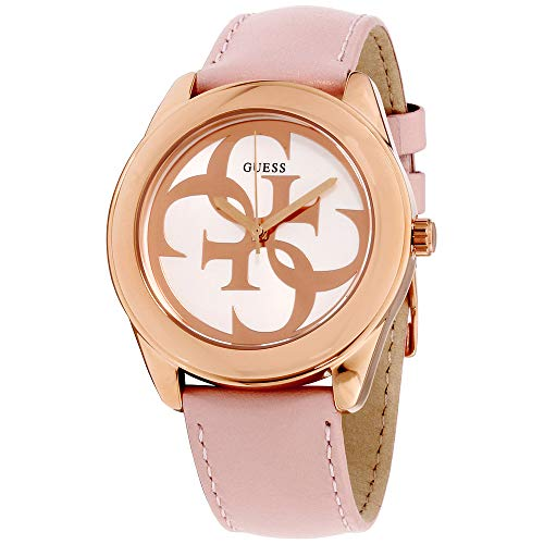 Guess G Twist White Dial Leather Strap Ladies Watch W0895L6