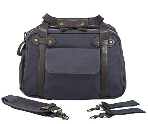 SoYoung Charlie Diaper Bag/Backpack - Unisex - Stylish Design - Changing Matt - Laptop Compartment - Bottle Pockets - Slate - Charlie Pack