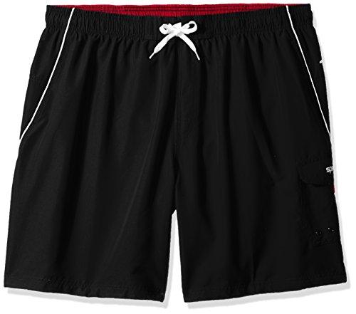 - Speedo Men's Marina Swim Trunk- Manufacturer Discontinued , Black/White, 4X