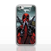 """iPhone 6/6s (4.7"""") Deadpool Silicone Phone Case / Gel Cover for Apple iPhone 6S 6 (4.7"""") / Screen Protector & Cloth / iCHOOSE / Sniffing Guns"""