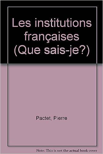 Download Online Institutions Françaises (les) pdf, epub