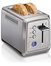 Hamilton Beach 22796 Digital 2 Slice Toaster with Bagel, Defrost & Cancel Settings Stainless Steel