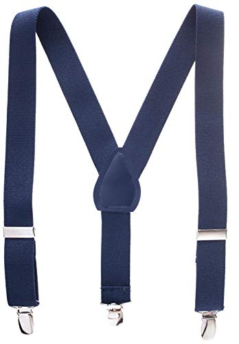 (Suspenders for Kids - 1 Inch Suspender Perfect for Tuxedo - Navy Blue (size)