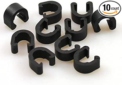 10Pcs Bicycle Cable Guide Buckle Bike Shift Line Derailleur Cable Hose C-Clips