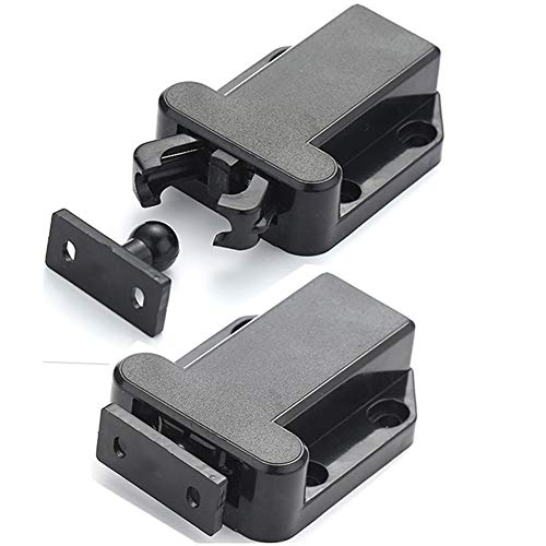 Push Latch, Rebound self-Locking Device, with Automatic pop-up Function Cabinet Lock, Prevent The Door from Sliding, Convenient and Practical, Easy to Install. (2 Pack) (01)