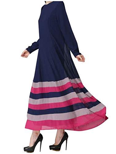 Coolred-femmes Caftan Abaya Jilbab Arabe Musulman Maxi Rayé As2 Robe De Soirée