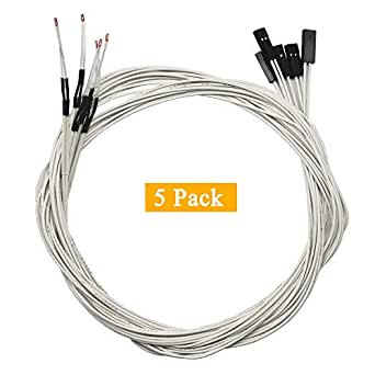 GODSHARK - Termistor NTC 3950 de 100 K con cableado de 1 metro y ...