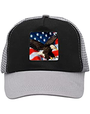 Unisex American Flag Eagle Adjustable Classic Hiphop Hat Baseball Cap Snapback Dad Hat