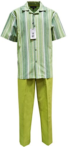 STACY ADAMS Men's Linen Yarn-DYE Shirt & Pant Set- for sale  Delivered anywhere in USA
