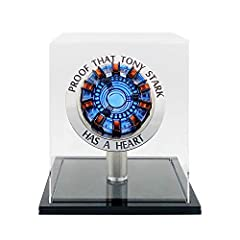 I love you three thousand times ❤ ❤ ❤  ----------------------------------->>>>>>>>>>>>>>>>>----  Contents:Arc Reactor MK1 LED Light, Display Box(Need to assemble), Remote Control,USB power co...