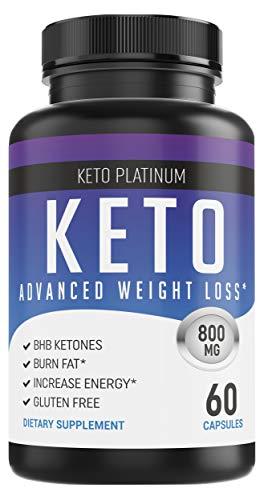 Keto Pills - Ketogenic Fat Burner - for Women & Men - Promotes Healthy Energy Levels - Burn Belly Fat Fast - Carb Blocker - Keto Platinum - 60 Capsules Keto Platinum