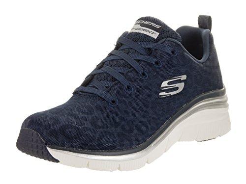Skechers Women's Fashion Fit Checking In Sneaker,Navy,US 6.5 M by Skechers