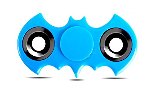 Batman Hand Spinner Fidget Toy, High Speed Spinner Fidget 2 Sided Spinner Toy, Batman Fidget Spinner, Stress Reducer Relieves ADHD, EDC Focus Toy (Sky Blue)