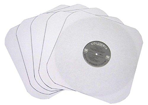 (50) White Heavyweight Paper Inner Sleeves for 12