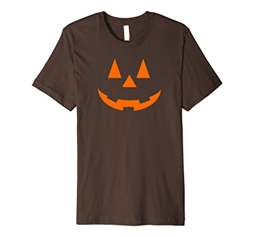 [Mens JACK O' LANTERN Pumpkin Premium Halloween Costume T-Shirt XL Brown] (Slim Jim Halloween Costume)