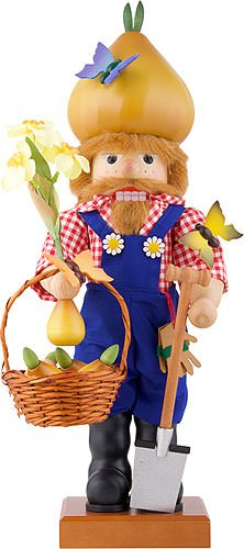 German Christmas Nutcracker Mr. Spring - 53cm / 21 inch - Christian Ulbricht by Authentic German Erzgebirge Handcraft