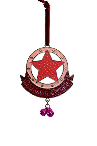 Holiday Market 'Always a Cowgirl' Star Diamond Christmas Ornament