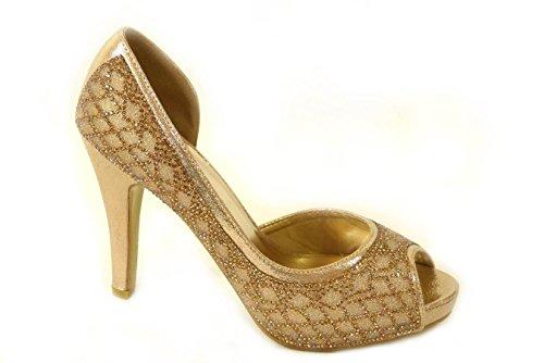 pour femme 76 567 Gold Sandales SKO'S Hfx8OO
