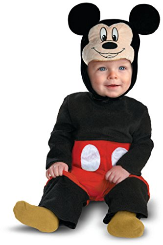 Mickey Mouse Halloween Costume Toddler (Disguise My First Disney Mickey Costume, Black/Red/White, 6-12 Months)