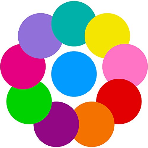 Tatuo 10 Pieces Colorful Dry Erase Circles White Board Marker Removable Vinyl Dot Wall Decal for Drills and Training School Teaching Progress (11 inch)