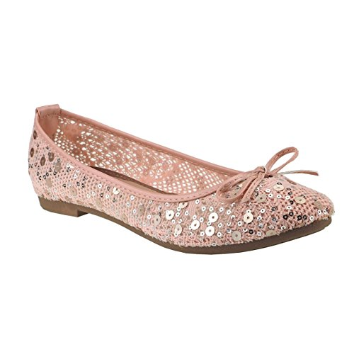 Multicolor Ballerines Pink Fashion4Young 36 pour femme Y4wFq0x6P