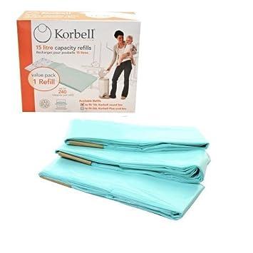 Korbell - Bolsas Recambio para cubo para pañales (tamaño estándar): Amazon.es: Bebé