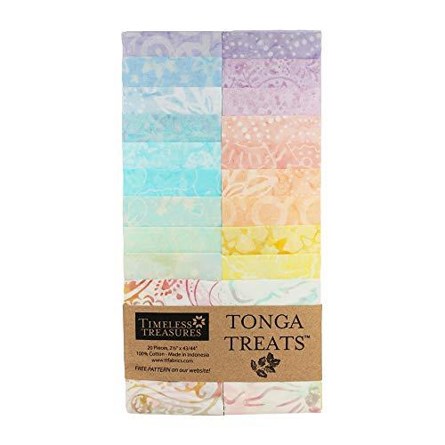 Timeless Treasures Tonga Batik Treat 2.5'' Strip Pack ()